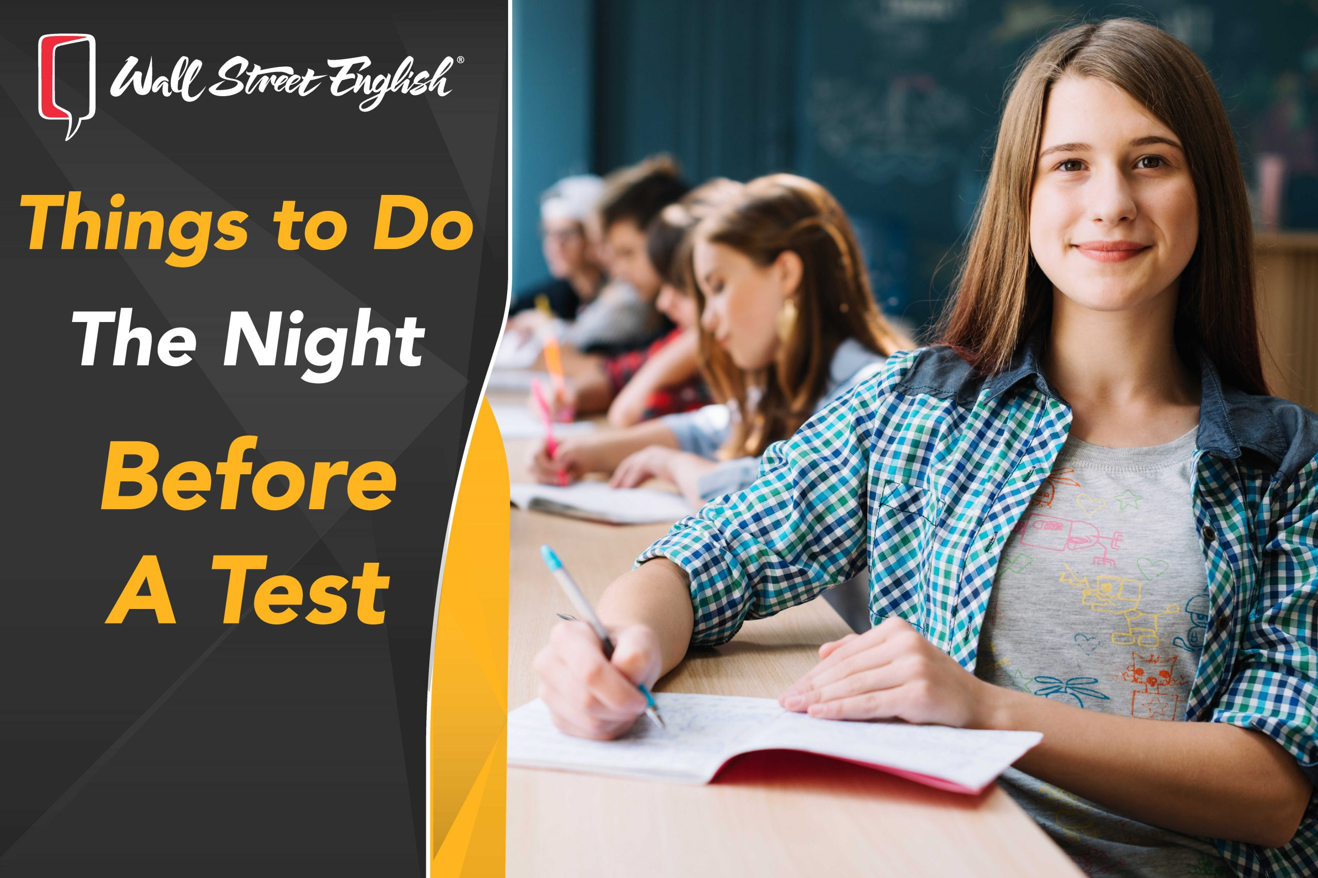 Things to Do the Night before a Test